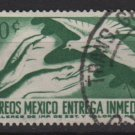 Mexico special Delivery 1964  - Scott E20 used  - 50c, Hands & dove (m-152)