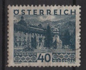 Austria 1929/30  -  Scott  335 used  - 40g,  Innsbruck  (8-411)