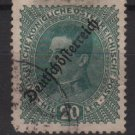Austria 1918/19  -  Scott  187 used  - 20h, Emperor Karl I issue overprinted  (8-405)