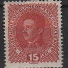 Austria 1917/18  -  Scott  168 MH- 15h, Emperor Karl I (8-397)