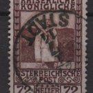 Austria 1908/13 - Scott 123 used - 72h, Franz Josef in Uniform (8-393)