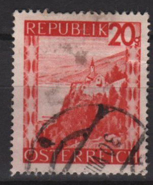 Austria 1947/48 -  Scott  504 used -   20g, Scenic View,  Lake Constance (8-447)