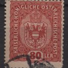 Austria 1916/18 - Scott 157 used -  80h, Coat of Arms (8-506)