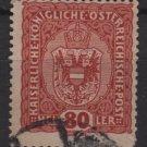Austria 1916/18 - Scott 157 used -  80h, Coat of Arms (8-506)