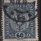 Austria 1916/18 - Scott 156 used -  60h, Coat of Arms (8-503)