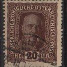 Austria 1916/18 - Scott 151 used -  20h, Franz Josef (8-497)