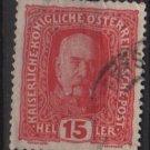 Austria 1916/18 - Scott 150 used - 15h, Franz Josef  (8-495)