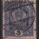 Austria 1916/18 - Scott 145 used - 3h, Austrian Crown (8-491)