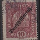 Austria 1918/19 - Scott 184 used -  10h, Austrian Crown issue overprinted (8-484