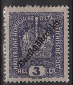 Austria 1918/19 - Scott 181 MH -  3h, Austrian Crown issue overprinted (8-480