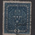 Austria  1916/18 -  Scott 160  used  - 2k, Coat of Arms (8-507)