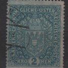 Austria  1917 -  Scott 165  used  - 2k, Coat of Arms (8-509)