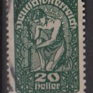 Austria  1919/20 -  Scott 208  used  - 20h, Allegory of New Republic (8-518)
