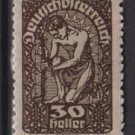 Austria  1919/20 -  Scott 211 MH  - 30h, Allegory of New Republic (8-526)