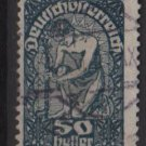 Austria  1919/20 -  Scott 215 used  - 50h, Allegory of New Republic (8-530)