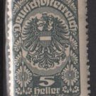 Austria  1919/20  -  Scott  202  MH  - 5h, Coat of Arms  (8-533)