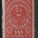 Austria  1919/20  -  Scott  205a  MH -  10h, Coat of Arms (8-542)
