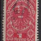 Austria  1919/20  -  Scott  217  used -  1k, Coat of Arms (8-551)