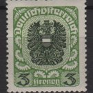 Austria 1920/21  -  Scott  243  MH - 3k, Coat of Arms (8-584)