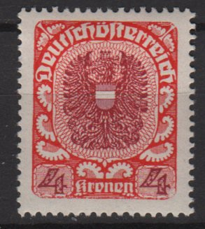 Austria 1920/21  -  Scott  244 used    - 4k, Coat  of Arms (8-581)