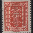 Austria 1922/24  - Scott  263  MH  - 45k, Symbols of  Labor & Industry (8-633)