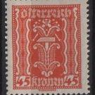 Austria 1922/24  - Scott  263  MH  - 45k, Symbols of  Labor & Industry (8-633)
