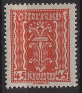 Austria 1922/24  - Scott  263  MH  - 45k, Symbols of  Labor &amp; Industry (8-633)