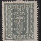 Austria 1922/24  - Scott  262 MH  - 30k, Symbols of  Labor & Industry (8-630)