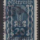 Austria 1922/24  - Scott  260 used  - 20k, Symbols of   Agriculture (8-624)