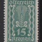 Austria 1922/24  - Scott  259 MH  - 15k, , Symbols of   Agriculture (8-620)