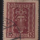 Austria 1922/24  - Scott  257 used  - 10k, Symbols of  Labor & Industry (8-613)