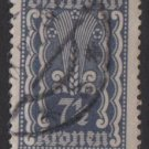 Austria 1922/24  - Scott  256 used  - 7.1/2k, Symbols of  Agriculture  (8-611)