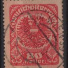 Austria 1920/21  -  Scott  238 used  - 80h,  Coat  of Arms (8-592)