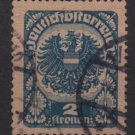 Austria 1920/21  -  Scott   242 used  - 2k,  Coat  of Arms (8-590)