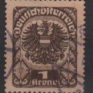 Austria 1920/21  -  Scott    239 used  - 1k Coat  of Arms (8-586)