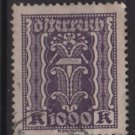 Austria 1922/24  - Scott 281 used - 1000 k, Symbols of  Labor & Industry (8-668)
