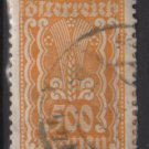 Austria 1922/24  - Scott 277 used - 500 k, Symbols of  Agriculture  (8-660)