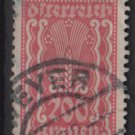 Austria 1922/24  - Scott 273 used - 200 k, Symbols of  Agriculture  (8-658)
