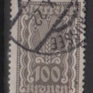 Austria 1922/24  - Scott  268 used - 100k,  Symbols of  Agriculture  (8-645)