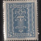 Austria 1922/24  - Scott 266  MH - 75k, Symbols of  Labor & Industry (8-642)