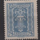 Austria 1922/24  - Scott 266  used - 75k, Symbols of  Labor & Industry (8-640)