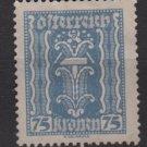 Austria 1922/24  - Scott 266  used - 75k, Symbols of  Labor & Industry (8-640)