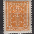 Austria 1922/24  - Scott 267 MH - 80k, Symbols of  Labor & Industry (8-637)