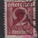 Austria 1925/27  - Scott 304  used -  2g, Numeral (8-697)