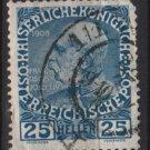 Austria 1908/13 - Scott 118a  used - 25h,  Franz Josef (8-683)