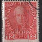 Austria 1908/13 - Scott 116a  used - 12h,  Franz I (8-679)