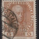 Austria 1908/13 - Scott 114a  used - 6h,  Leopold II (8-677)