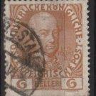 Austria 1908/13 - Scott 114a  used - 6h,  Leopold II (8-677)