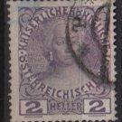 Austria 1908/13 - Scott 111a  used - 2h,  Maria Theresa (8-675)