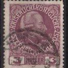 Austria 1908/13 - Scott 112 used - 3h,  Josef  II (8-671)